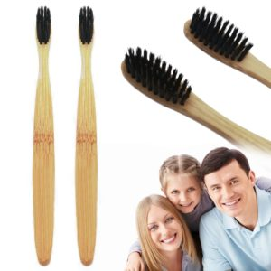 New Charcoal Infused Bamboo Toothbrush for Improving Bad Breath Beauty & Health 3