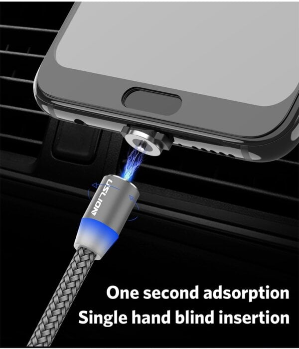 2.4A Type C Cable Magnetic Micro USB Cable Smartphone 15