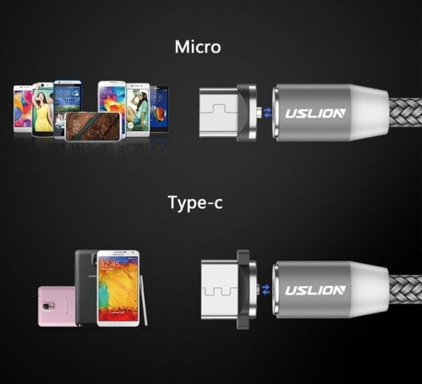 2.4A Type C Cable Magnetic Micro USB Cable Smartphone 8