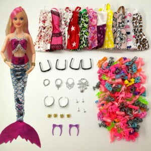 Mermaid Doll Dress and Accessories Toys 2