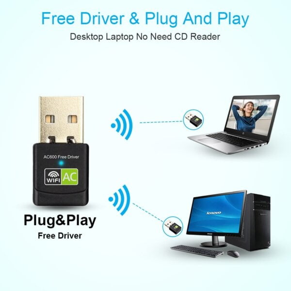 New USB WiFi Adapter with AC600 Free Driver Computers & Tablets 12