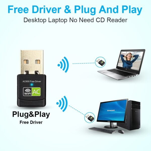 New USB WiFi Adapter with AC600 Free Driver Computers & Tablets 8