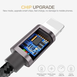 2.4A USB Lightning Cable iPhone Smartphone 10
