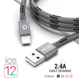 2.4A USB Lightning Cable iPhone Smartphone 2