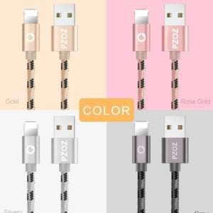 2.4A USB Lightning Cable iPhone Smartphone 12