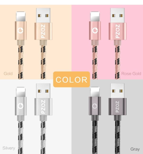 2.4A USB Lightning Cable iPhone Smartphone 6
