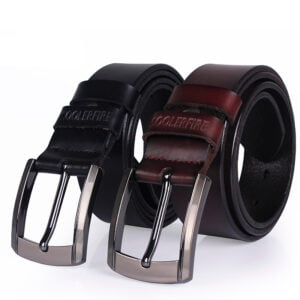 New Black Leather Belt for Fashionable Men Men's Clothing and Accessories
