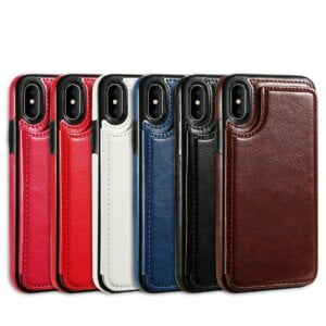 Colorful Leather Wallet Case for iPhone Phone Cases & Bags